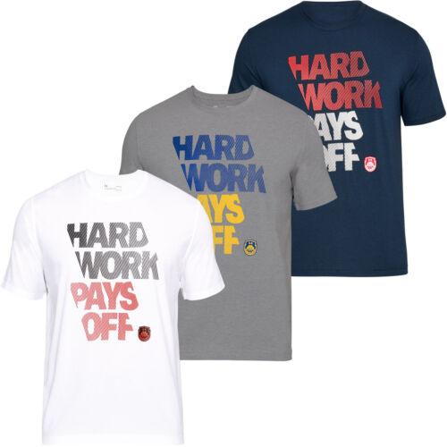 Under Armour Mens UA BBall Hard Work SS Sports Gym Training T Shirt