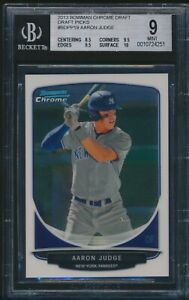 BGS 9 w/9.5 AARON JUDGE 2013 Bowman Chrome Draft Picks #19 Rookie Card RC MINT