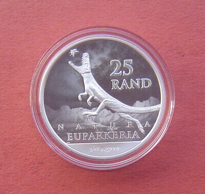 Natura 2019 South Africa Archosauria 25 Rand 1 Ounce Fine Silver 50K Minted