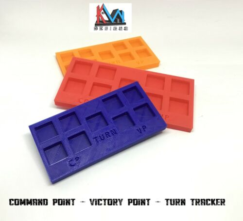 3D Printed- Command Point Victory Point Turn Tracker 40k Sigmar, Kill Team