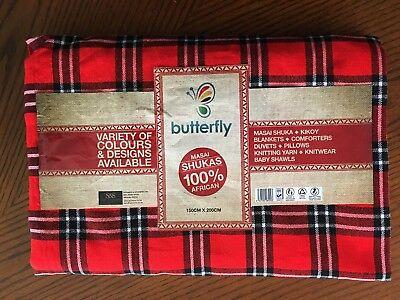 Shuka made in Kenya Authentic Maasai Blanket aka