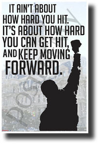 Details About It Ain T About How Hard You Hit New Motivational Sports Poster