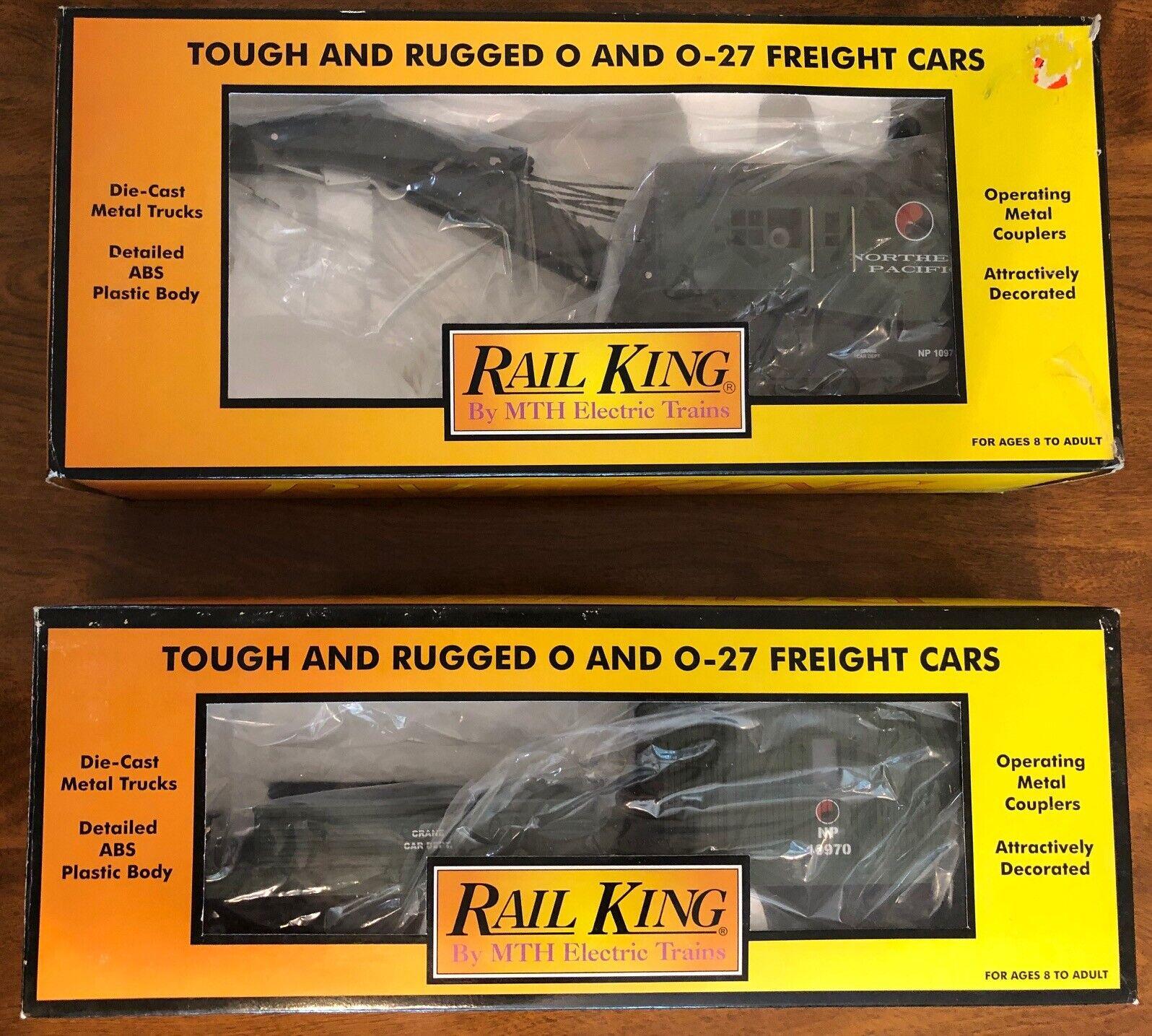Grúa de funcionamiento RAIL KING Pacífico Norte coche y tierno Coche-Dos Box Set