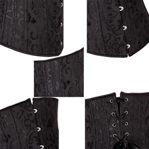 Damen Vintage Spitze Korsett Taillenformer Bauchweg Stahlknochen Corsagen S-6XL
