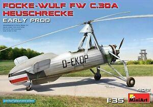 Miniart 1:35 Focke-Wulf Fw C.30A Heuschrecke Early Prod. AUTOGIRE Model Kit