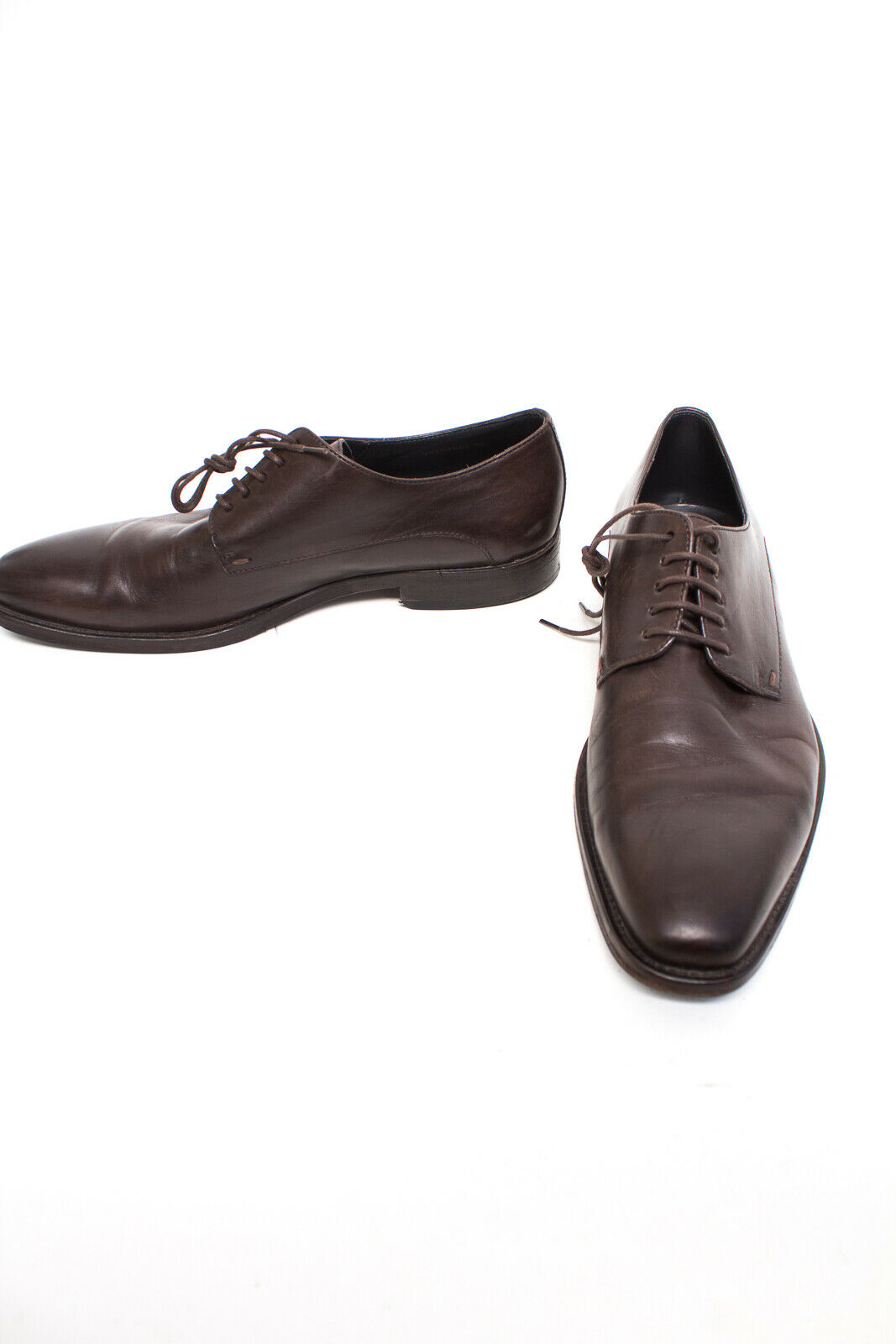 Hugo Boss zapatos caballero zapatos UE 42 schnürzapatos zapatos zapato bajo marrón de cuero