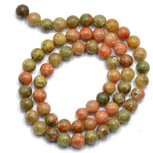 15/'/' 4mm Autumn Jasper Stone Round Gemstone Loose Beads Spacer Jewelry Making
