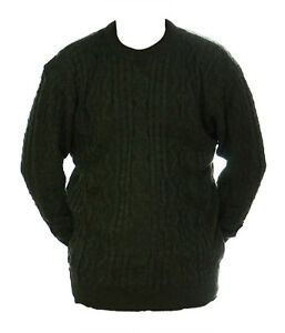 Mens-M-L-New-Crew-Neck-Green-Red-Mix-Jumper-Acrylic-Wool-Pullover-Sweater-Lads