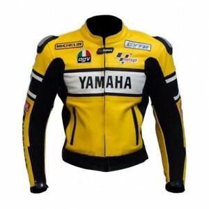 günstiger Preis Wählen Sie für echte heiße Produkte Details zu YAMAHA Gelb Rennen Leder Bikerjacke Herren Biker Lederjacke  Motorrad Lederjacken