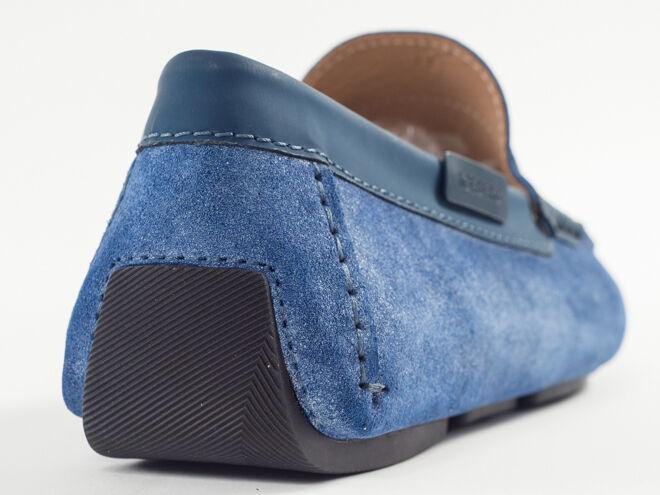 New Suede Iceberg Light Blue Suede New Moccasin Size 43 US 10 Scarpe classiche da uomo 1704f1