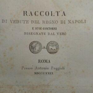 Lotto n. 9 incisioni su rame Pozzuoli Campi Flegrei di A. Poggioli 1829 (P543)