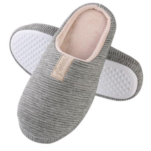 Men/'s Women/'s Cozy Fleece House Slippers Slip-on Shoes Winter Warm Flip Flops
