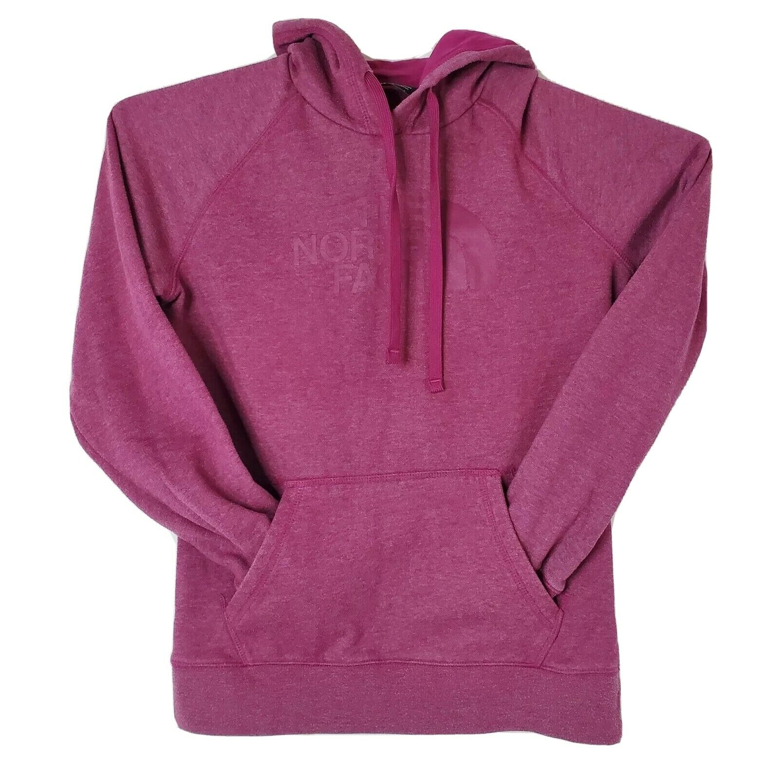 The North Face Womens Size Medium Pink Logo Cotton Hoodie Sweater