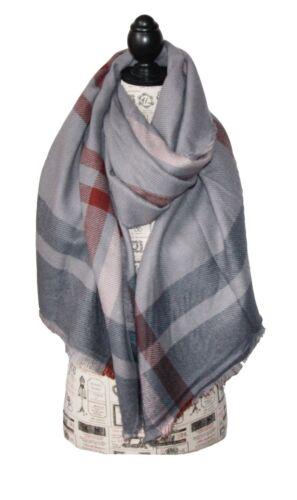 Femmes Chiffon Carreaux à Carreaux écharpe wollschal overseized Hiver écharpe très grand Art Sp