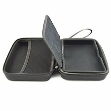 Black Hard Carry Case For TomTom Trucker 6000 With Accessory Storage and Lanyard