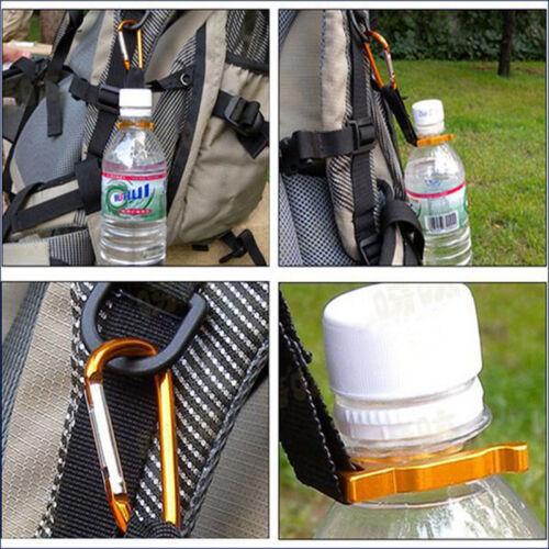 2pcs Outdoor Camp Hike Carabiner Water Bottle Clip Holder Travel Buckles Fine