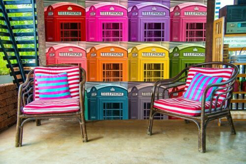 Details about  /3D Color Telephone Booth N253 Wallpaper Wall Mural Self-adhesive Assaf Frank Fay