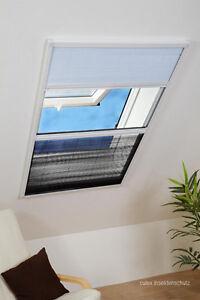 dachfenster fliegengitter plissee insektenschutz u sonnenschutz in einem ebay. Black Bedroom Furniture Sets. Home Design Ideas