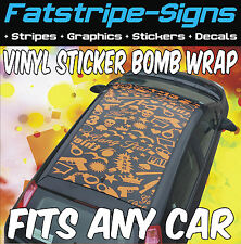 SKODA FABIA OCTAVIA VINYL STICKER BOMB ROOF WRAP CAR GRAPHICS DECALS STICKERS
