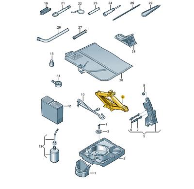 Genuine AUDI//VW chassis jack point set part numbers 8N0803855 and 8N0804583
