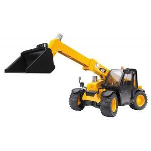 Bruder-Caterpillar-Teleskoplader-gelb-02141-Baufahrzeuge-Kinderspielzeug-Bau