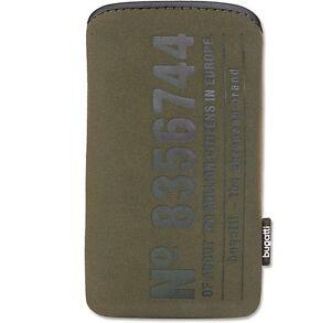 Original-bugatti-SlimCase-STN-Size-S-olive-Etui-Handytasche