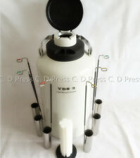New 3l Liquid Nitrogen Tank Cryogenic Container Ln2 Dewar6pcs Pailslock Cover