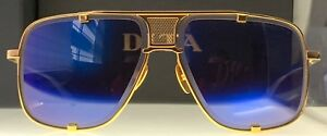 d5bb82abf5c2 Dita Sunglasses Mach Five DRX-2087-B-BLU-GLD-64 100% Authentic