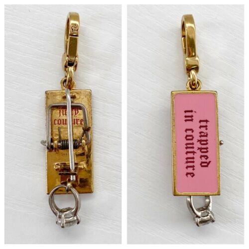 """Juicy Couture Mouse Trap Charm """"Trapped In Couture"""