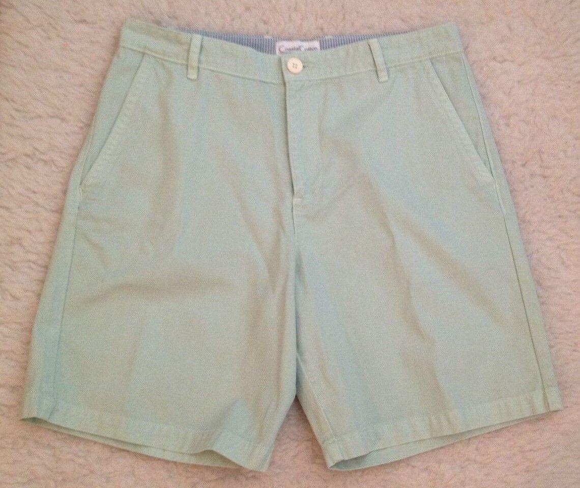 NWT Coastal Cotton ISLAND Short MINT GREEN Shorts Khakis Mens 32 x 8.5