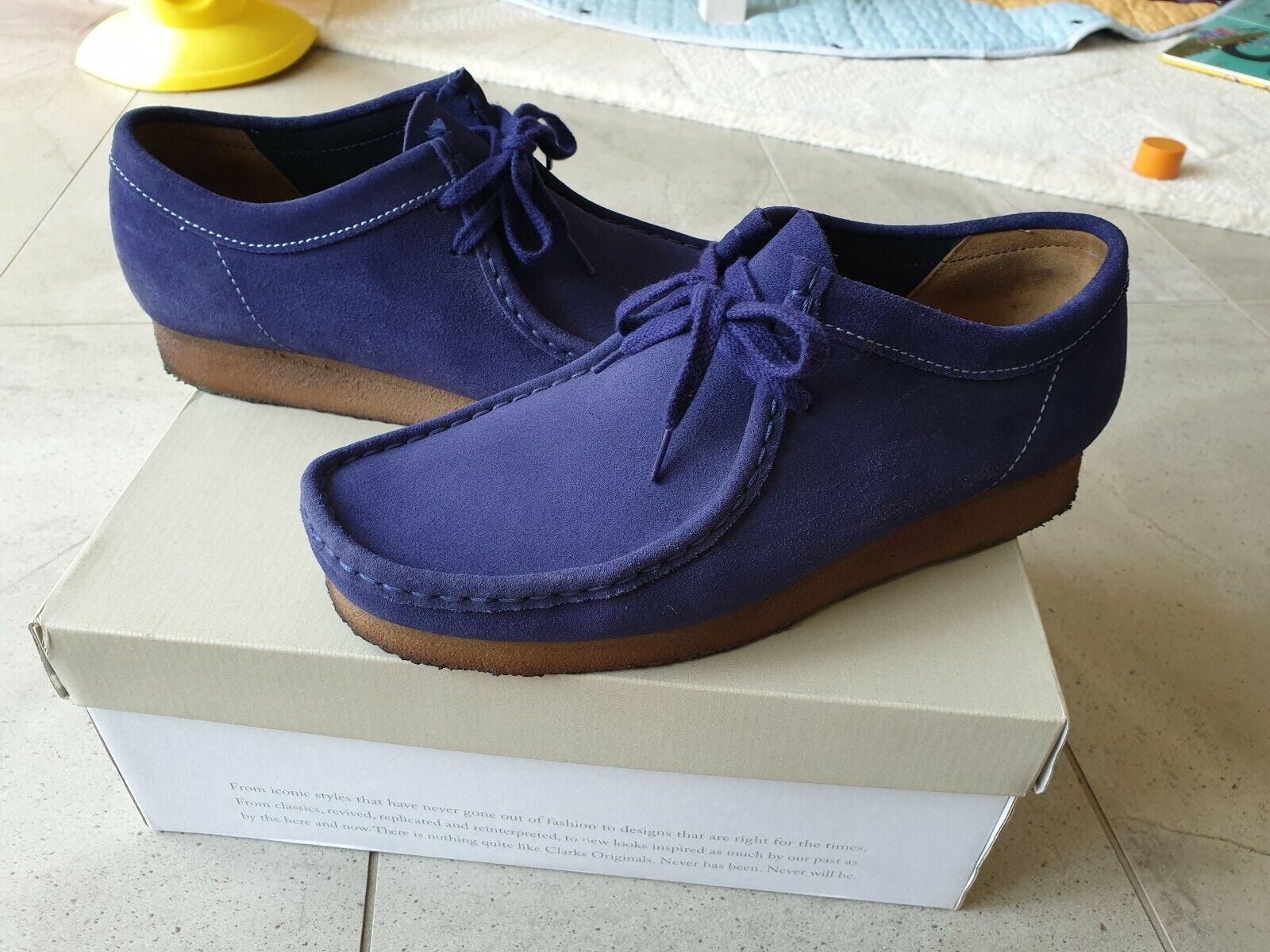 Clarks Wallabee boot desert 9.5 blue Suede Leather Desert brown 9 8 purple
