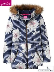 f5923c2eb96d Joules Belmont French Navy Peony Padded Girls Coat in sizes Age 5 ...