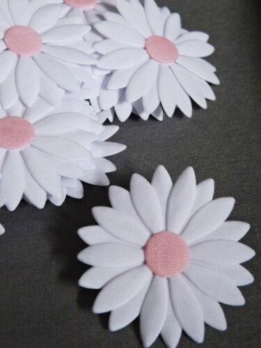 Big Apliques De Margaritas Flores de satén de algodón hairband Coser cardmaking Crafts