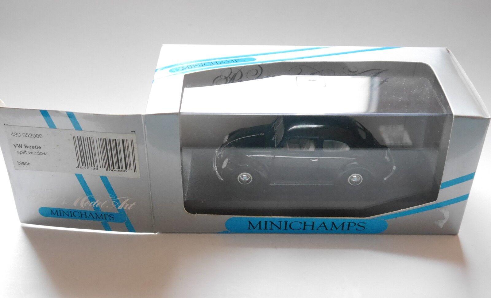 VW Maggiolino BISCOTTO Beetle Split Window nero, Minichamps 430 052000 1:43 Boxed