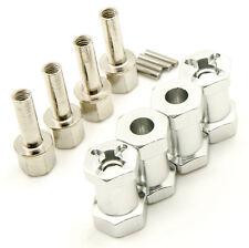 Silver Aluminum Alloy 12mm Wheel Hub Hex Drive Adaptor +20mm Offset SCX10 WRAITH