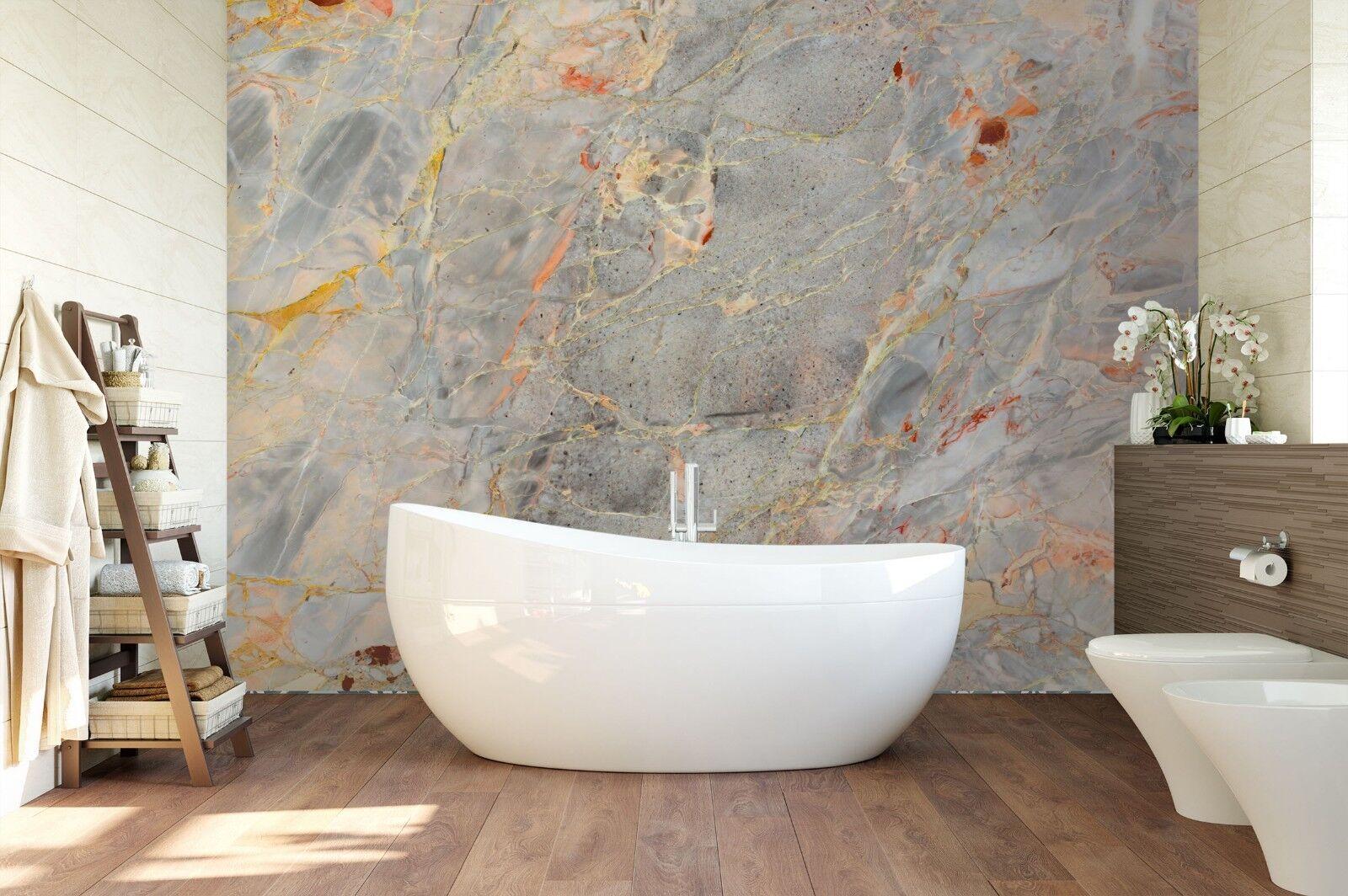 3D Variegated Jade 5237 Texture Tiles Marble Wall Paper Decal Wallpaper Mural