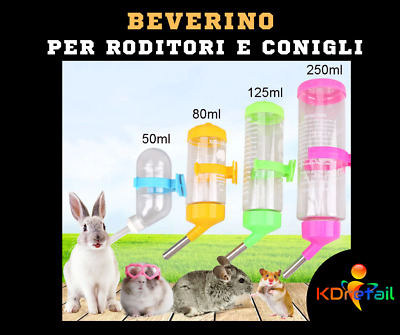 cani Vvciic criceti bianco dispenser di acqua da appendere per conigli gatti 500 ml distributore automatico di acqua per conigli