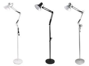 Lampada-a-piantana-da-terra-braccio-orientabile-luce-da-lettura-in-metallo-D15
