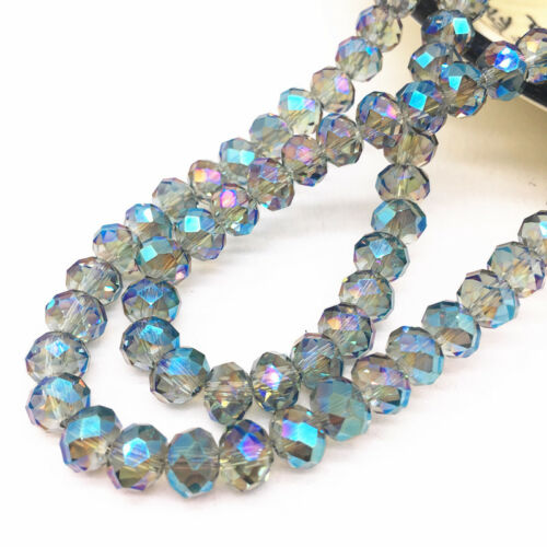 4//6//8mm Rondelle Austria Faceted Crystal Glass Beads,Wheel Beads Jewelry Making