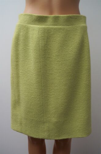 CHANEL Boutique Vintage 1989 Lime Green Wool Tweed