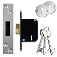 Willenhall Locks M8 5 Lever Mortice Door Deadlock 50mm Chrome Key To Differ 4835