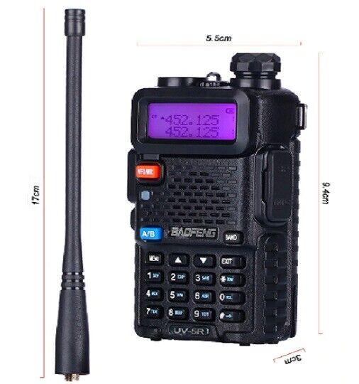 UV-5R VHF/UHF FM Emetteur-Recepteur radio bi directionnelle Talkie walkie 5w