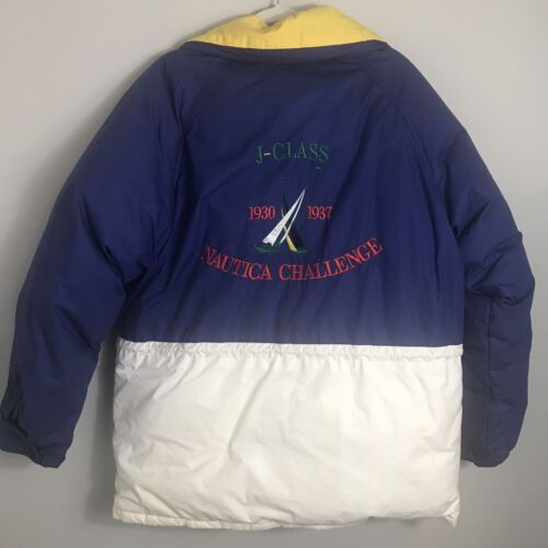 Nautica Vintage Men's Puffer Coat Jacket-Down Fill