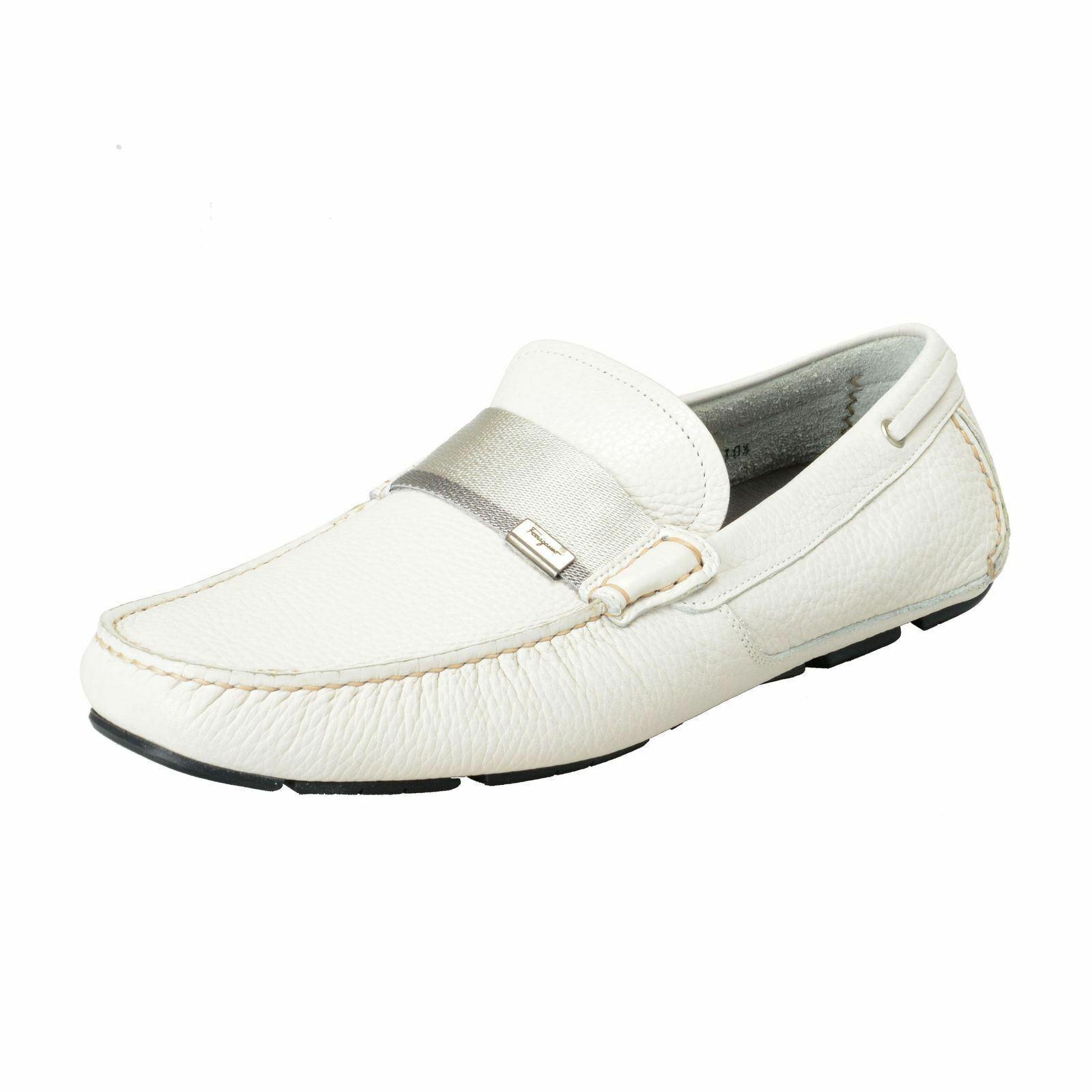 f7fe94c0d395ff Salvatore Ferragamo Homme Galets Cuir Chaussures Mocassins Conduite Rio  nhbhcx6351-Chaussures décontractées