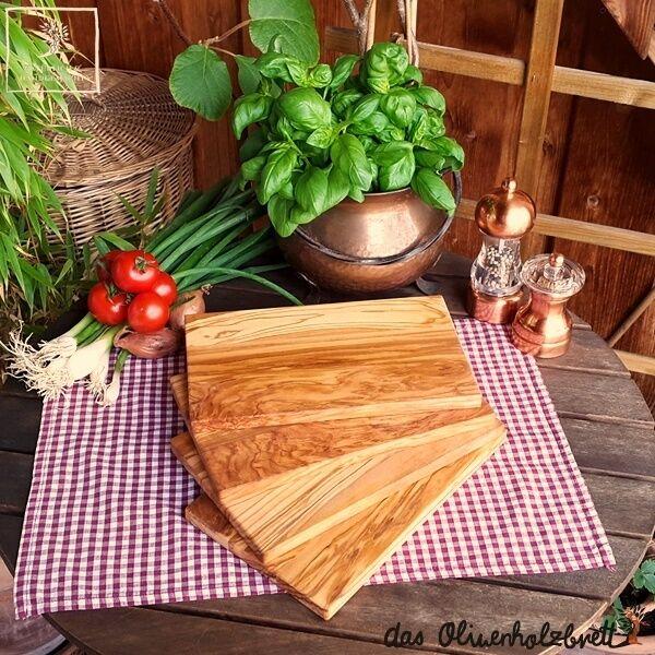 4x OLIVE LEGNO COLAZIONE Brett olive legno Brett pane tempo Brett taglio legno Brett