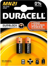 Pack of 2 Duracell MN21 Batteries ~ ~ A23 / K23A lrv08.. .. . Alkaline ms21 vr22