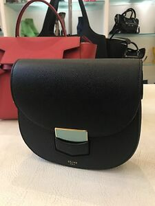 0bc91ae2c8 Image is loading 1300-pounds-NEW-Celine-Trotteur-Black-Grained-Leather-