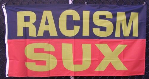 Racism sux flag + FREE Aboriginal flag Deadly or One mob sticker