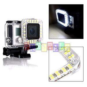 External Usb Lens Ring Led Flash Light Shooting For Gopro