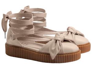 cdc56b35794 Women s Puma x Fenty Rihanna Bow Creeper Sandals Beige Summer Shoes ...